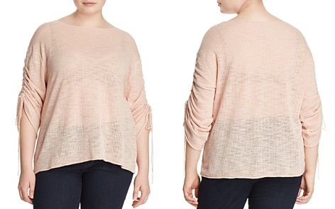 VINCE CAMUTO Plus Pointelle Knit Drawstring-Sleeve Top - Bloomingdale's_2