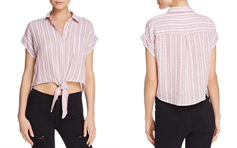 Rails Amelie Cropped Tie-Front Shirt - Bloomingdale's_2