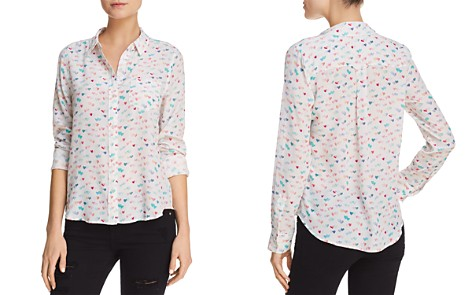 Rails Kate Heart-Print Silk Shirt - Bloomingdale's_2