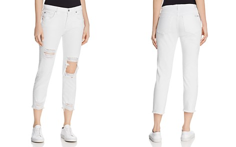 7 For All Mankind High Rise Josefina Jeans in White Fashion - Bloomingdale's_2