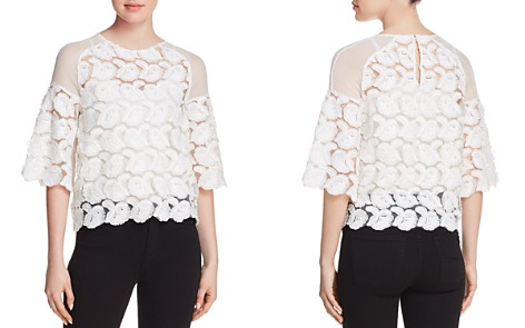 Maje Logan Rosette Appliqué Top - 100% Exclusive - Bloomingdale's_2