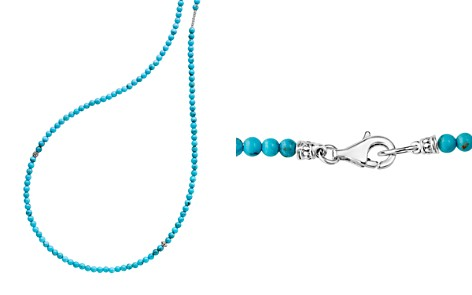"LAGOS Sterling Silver Caviar Icon Turquoise Five Station Strand Necklace, 34"" - Bloomingdale's_2"