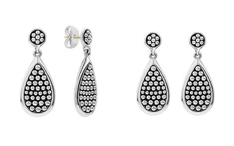 LAGOS Sterling Silver Bold Caviar Teardrop Earrings - Bloomingdale's_2