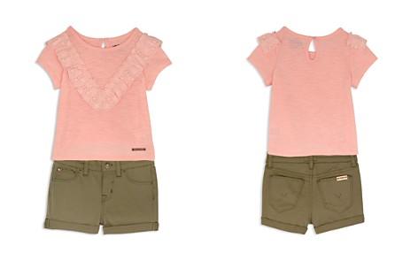 Hudson Girls' Eyelet-Ruffle Tee & Twill Shorts - Little Kid - Bloomingdale's_2