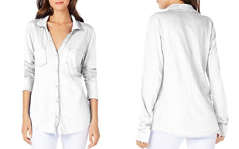 Michael Stars Knit Button Down Top - Bloomingdale's_2