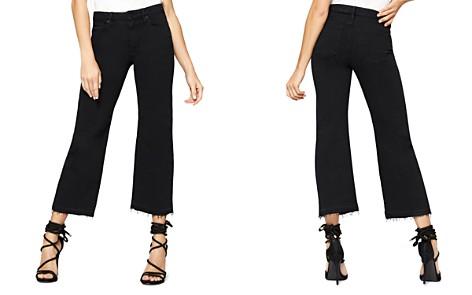 Sanctuary Flare Crop Released Hem Jeans in Black - Bloomingdale's_2