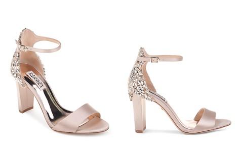 Badgley Mischka Women's Seina Embellished Satin Ankle Strap Sandals - Bloomingdale's_2