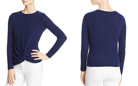 C by Bloomingdale's Twist-Front Lightweight Cashmere Sweater - 100% Exclusive _2