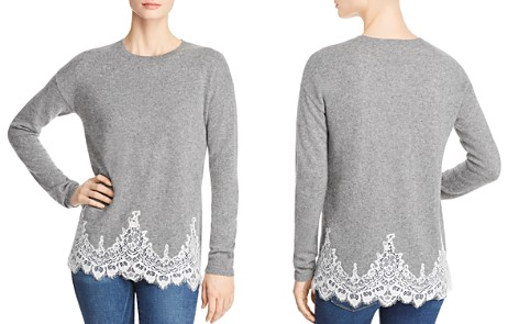 C by Bloomingdale's Lace-Hem Sweater - 100% Exclusive _2