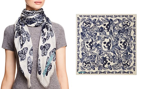 Zadig & Voltaire Kerry Butterfly Skull Print Scarf - Bloomingdale's_2