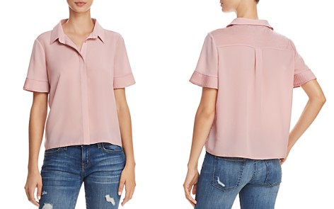 FRENCH CONNECTION Pleated Cuff Button-Down Shirt - Bloomingdale's_2