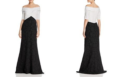 Tadashi Shoji Off-the-Shoulder Crepe Gown - Bloomingdale's_2