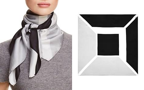 Echo Color-Block Geometric Print Silk Scarf - Bloomingdale's_2