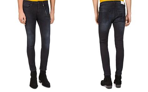 The Kooples Short Skinny & Destroys Slim Fit Jeans in Black - Bloomingdale's_2