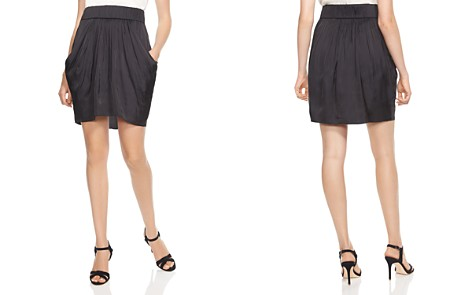 HALSTON HERITAGE Draped Satin Skirt - Bloomingdale's_2