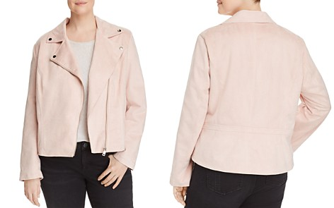 Bagatelle Plus Faux Suede Moto Jacket - 100% Exclusive - Bloomingdale's_2