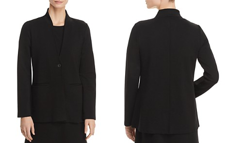 Eileen Fisher Ponte Knit Stand-Collar Blazer - Bloomingdale's_2