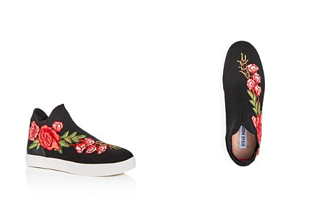 Steve Madden Girls' Floral Appliqué Knit High Top Sneakers - Little Kid, Big Kid - Bloomingdale's_2