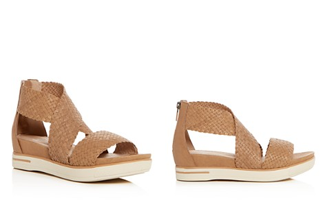 Eileen Fisher Women's Woven Leather Crisscross Platform Sandals - Bloomingdale's_2