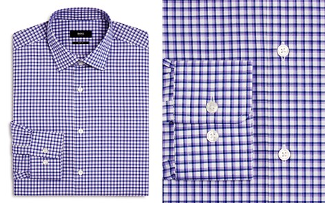 BOSS Checked Regular Fit Dress Shirt - Bloomingdale's_2