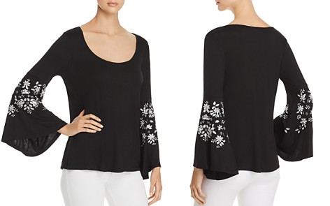 Love Scarlett Embroidered Bell-Sleeve Top - Bloomingdale's_2