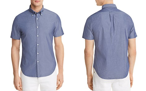 The Men's Store at Bloomingdale's Dotted Short Sleeve Button-Down Shirt - 100% Exclusive_2