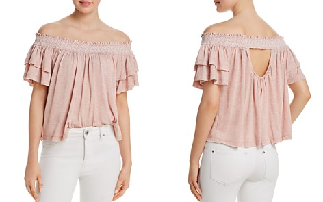 Muche et Muchette Jonathan Smocked Off-the-Shoulder Top - Bloomingdale's_2