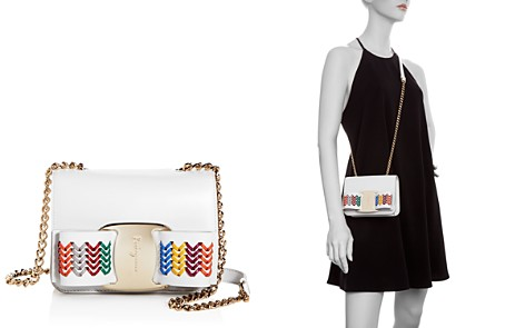 Salvatore Ferragamo Vera Rainbow Leather Crossbody - Bloomingdale's_2