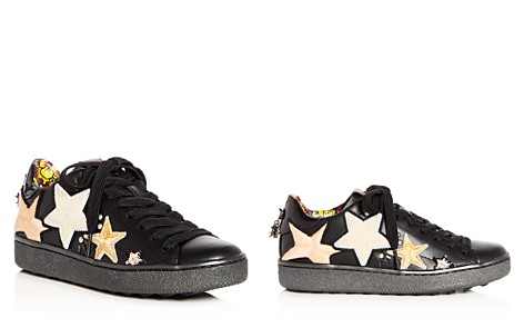 COACH Women's C101 Star Appliqué Leather Lace Up Sneakers - Bloomingdale's_2