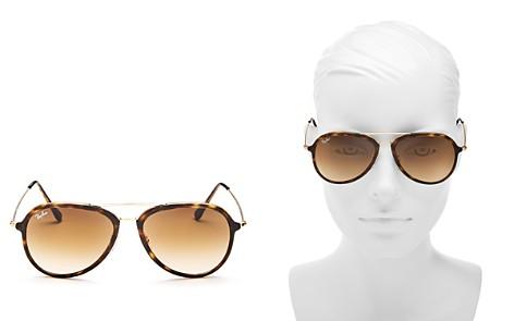 Ray-Ban Unisex Brow Bar Aviator Sunglasses, 57mm - Bloomingdale's_2