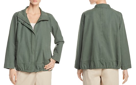Eileen Fisher Petites Stand-Collar Jacket - Bloomingdale's_2