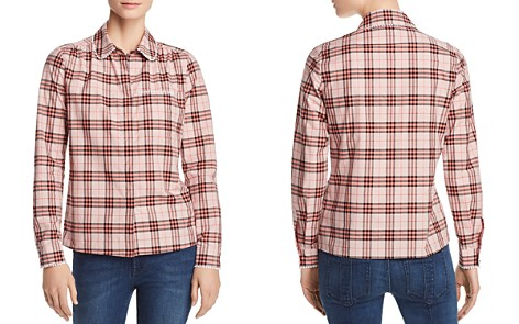 Burberry Brambling Embroidered Plaid Top - Bloomingdale's_2