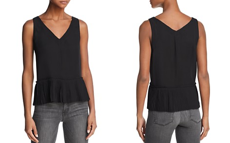 Rebecca Taylor Pleated Stretch-Silk Top - Bloomingdale's_2