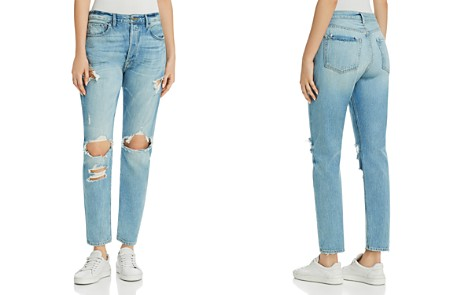 FRAME Le Original Distressed Skinny Jeans in Pomdale - Bloomingdale's_2