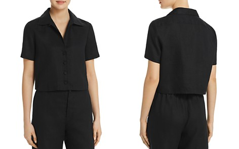 FRAME Mini Short Sleeve Shirt - Bloomingdale's_2