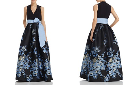 Eliza J Belted Floral Ball Gown - Bloomingdale's_2