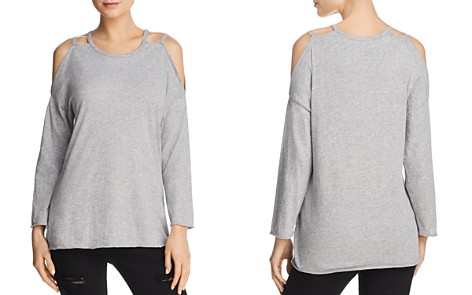 Michelle by Comune Strap Detail Cold-Shoulder Tee - Bloomingdale's_2