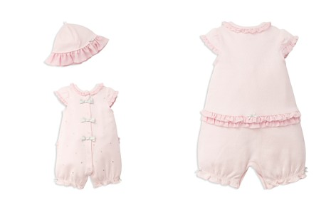 Little Me Girls' Embroidered Dot-Print Romper & Hat Set - Baby - Bloomingdale's_2