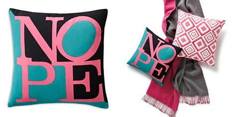 "Sparrow & Wren Nope Decorative Pillow, 18"" x 18"" - 100% Exclusive - Bloomingdale's_2"