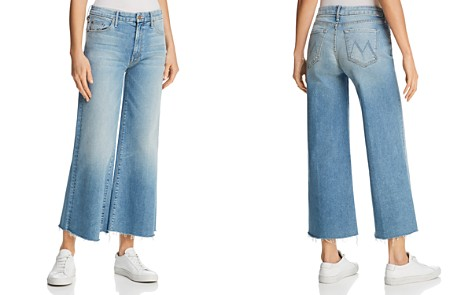 MOTHER Roller Crop Fray Wide-Leg Jeans in Ready to Roll - Bloomingdale's_2