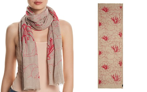 Fraas Embroidered Floral Oblong Scarf - Bloomingdale's_2