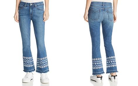 Derek Lam 10 Crosby Jane Mid Rise Flip Flare Jeans in Medium - Bloomingdale's_2