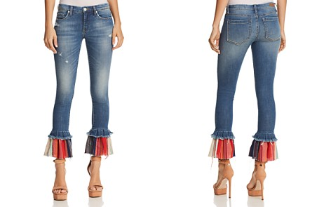 BLANKNYC Contrast-Hem Flared Jeans in Missed Connections - Bloomingdale's_2