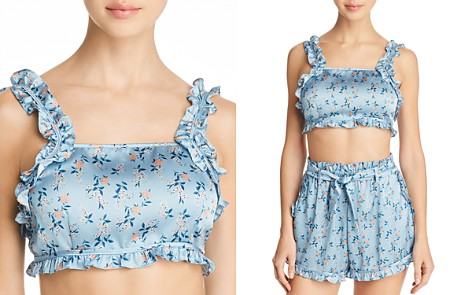 For Love & Lemons Spring Bloom Ruffle Crop Top - Bloomingdale's_2