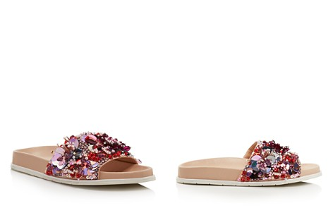 Kenneth Cole Women's Xenia Sequin-Embellished Pool Slide Sandals - Bloomingdale's_2