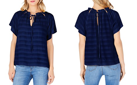 Michael Stars Striped Reversible-Neck Top - Bloomingdale's_2