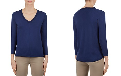 Gerard Darel Figaro Metallic-Trimmed Sweater - Bloomingdale's_2