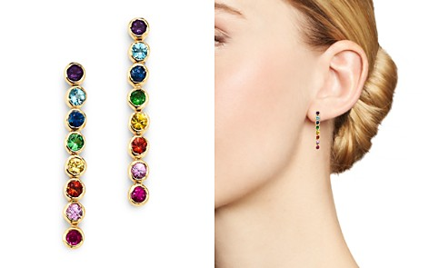 SheBee 14K Yellow Gold Multicolor Sapphire Linear Drop Earrings - Bloomingdale's_2