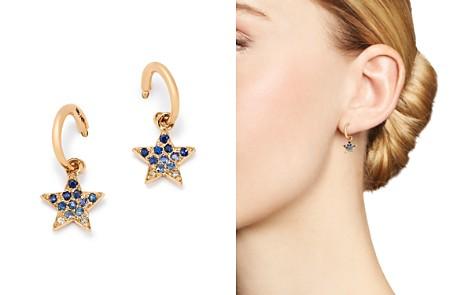 SheBee 14K Yellow Gold Ombré Blue Sapphire Star Hoop Drop Earrings - Bloomingdale's_2