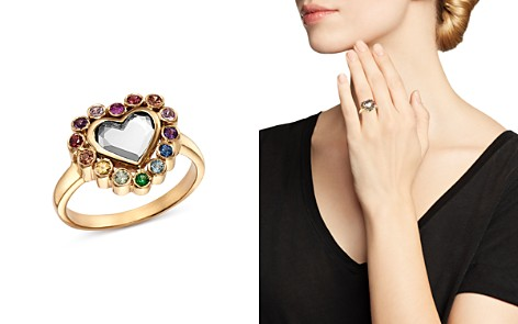 SheBee Sterling Silver & 14K Yellow Gold White Topaz & Multicolor Sapphire Heart Ring - Bloomingdale's_2